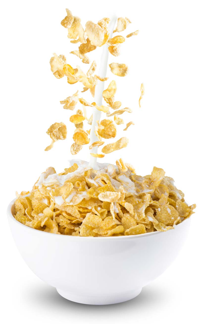 How can honey be dried on cornflakes?